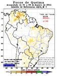 Imagem Janeiro de 2015 registra recorde de focos de queimadas detectados por satélite