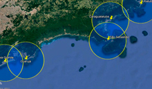 Imagem INPE implementa sistema de alerta de raios para a Defesa Civil em praias do Litoral paulista
