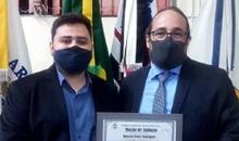 Imagem Inpeano é homenageado em sua cidade natal pela Câmara Municipal, por ter trabalhado no Satélite Amazonia 1