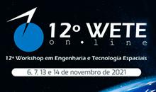 Imagem Inscrições abertas para o 12º Workshop em Engenharia e Tecnologia Espaciais