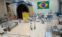 Imagem Satélite CBERS-4A conclui testes com sucesso e segue para China