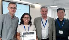 Imagem Egressa da pós em Engenharia do INPE é premiada na Espanha