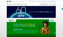 Imagem Site do INPE/MCTI passa a integrar o portal único gov.br
