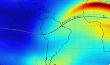 Imagem Modelo Ionosférico desenvolvido com participação do INPE faz previsões dos efeitos do eclipse solar que ocorrerá em 14 de dezembro 2020 na América do Sul