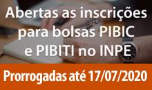 Imagem Prorrogação das Inscrições das bolsas PIBIC e PIBITI