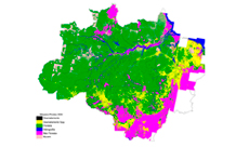 Imagem INPE estima 6.624 km<sup>2</sup> de desmatamento por corte raso na Amazônia em 2017