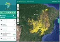 Imagem INPE apresenta o monitoramento de biomas em São Paulo