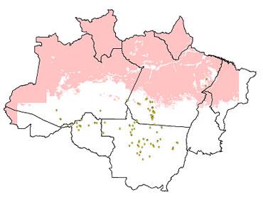 DETER/INPE indica 109,6 km2 de desmatamentos na Amazônia no mês de maio/2010