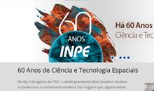 Imagem INPE/MCTI lança página na Internet para comemorar seus 60 anos de história na área espacial