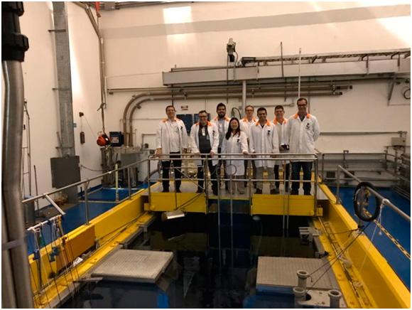 Imagem - Os pesquisadores do INPE visitaram o reator nuclear do IPEN