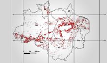 Imagem A taxa consolidada de desmatamento por corte raso para os nove estados da Amazônia Legal em 2020 foi de 10.851 km2