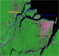 Imagem Estudo do INPE indica que o rio Amazonas é 140 km mais extenso do que o Nilo