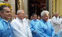 Imagem Satélites do INPE são destaque em visita do ministro Pontes