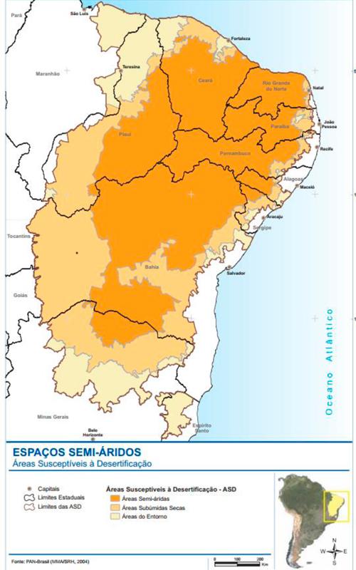 Áreas susceptíveis à desertificação, no semiárido brasileiro *Agricultura, Biodiversidade e Ecossistemas, Cidades e Urbanização, Desastres Naturais, Desenvolvimento Regional, Divulgação Científica, Energias Renováveis, Políticas Públicas, Recursos Hídricos, Saúde e Zonas Costeiras.