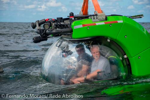 Submersível pronto para o mergulho
