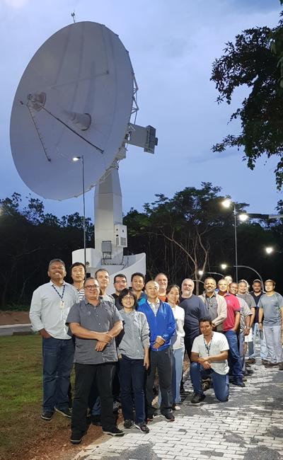 Imagem 02 - Equipe do INPE de São José dos Campos (SP) e de Cuiabá (MT) realizou, no início do mês, os testes de compatibilidade entre o CBERS 04A e a nova antena da Estação Terrena